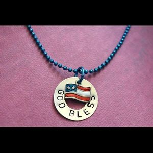 Handmade Stamped Sterling Silver Necklace 🇺🇸